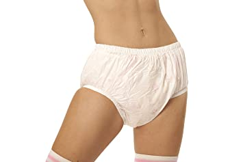 eb79f33d5de6 Amazon.com : Adult Baby Diaper Lover ASC White Plastic Diaper Covers  (X-Small) : Baby