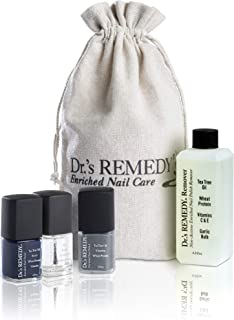 product image for Dr.'s REMEDY Enriched Nail Polish, SMART START Blue Kit With Free Remedy Remover and Signature Jute Bag, 5.7 Fluid Ounce