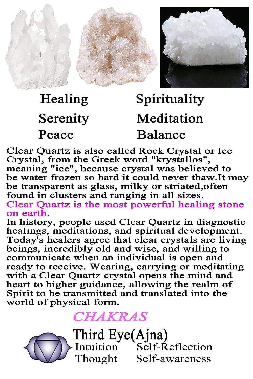 QGEM Natural Row Rock Quartz Crystal Cluster Geode Druzy Specimen Decor w//Box 0.1kg to 0.1kg clear