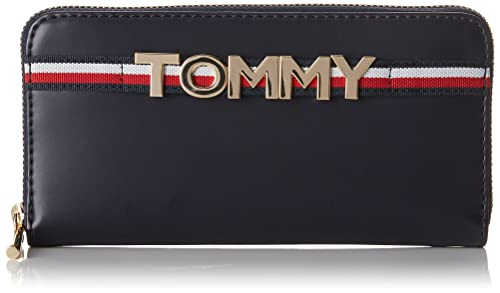 Tommy Hilfiger Corporate Highlight Large Za Wallet, Cartera para Mujer, Varios Colores, 10x5x5