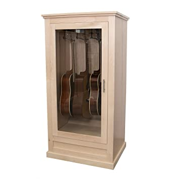 Acoustic Guitar Humidor With Humidifier System In Custom Display Case For  Vintage And Fine String Instruments