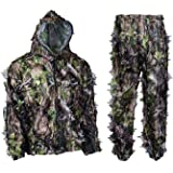 EAROOMZE Mens 3D Lightweight Hunting Suit Airsoft Sniper Ghillie Breathable Camouflage Clothing