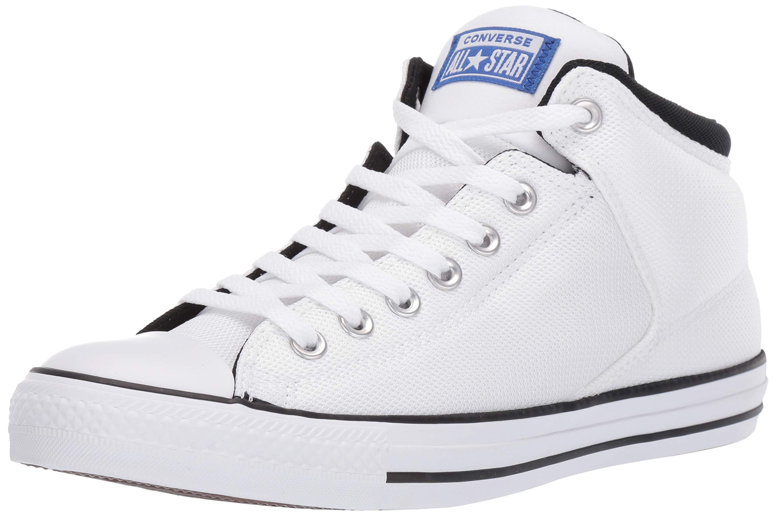 Converse Men's Unisex Chuck Taylor All Star Street High Top Sneaker, WhiteBlueBlack 8 M US