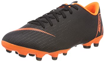 Nike Junior Mercurial Vapor XII Academy GS MG Cleats (Black Total  Orange-White 520254bfcf8f