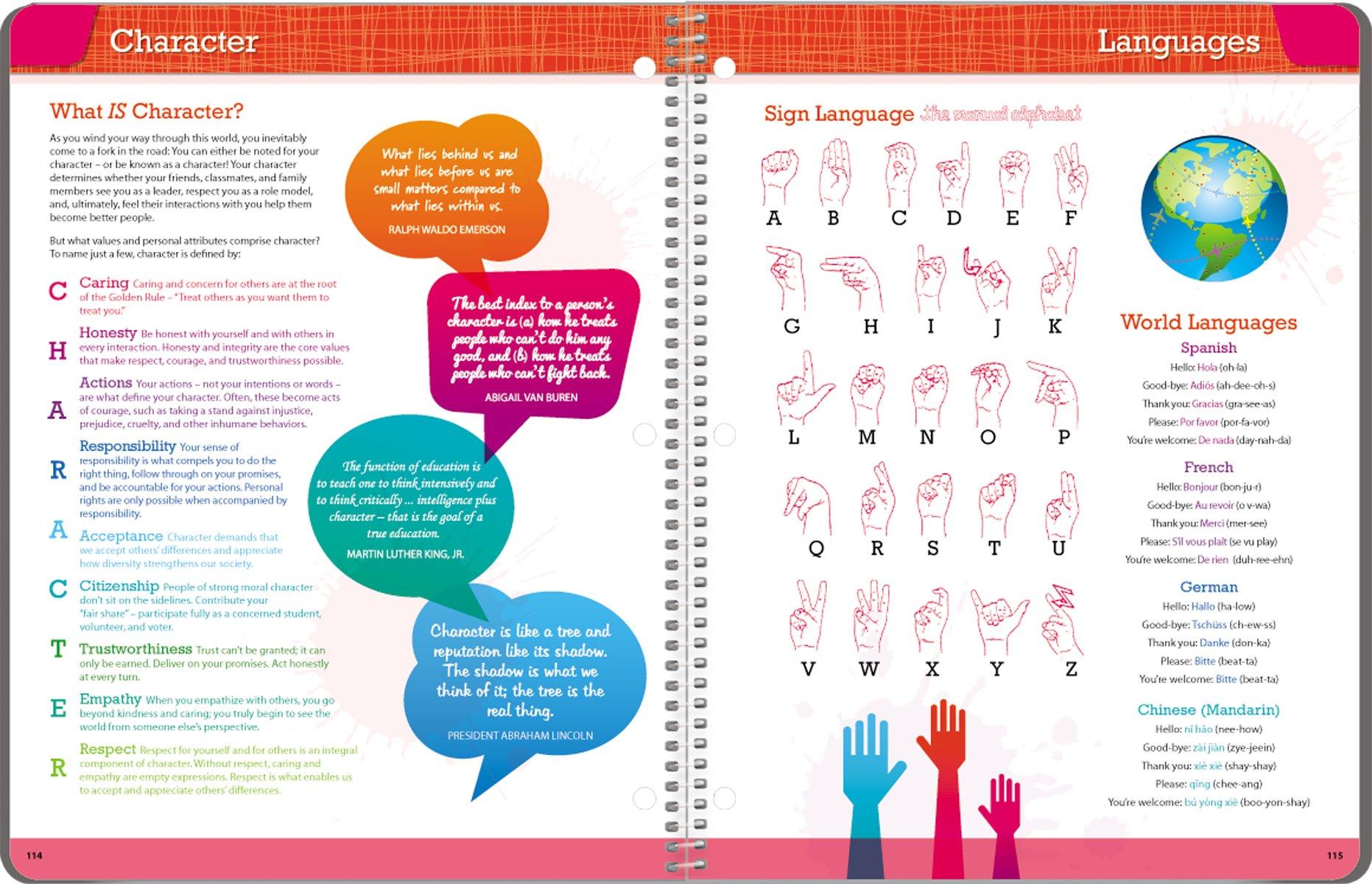 Student Planner 2016 - 2017 School Year Planner Elementary School Content 8.5'' x 11'' by School Datebooks (Image #6)