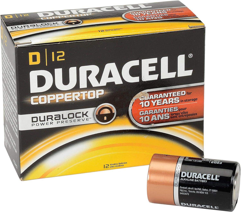Lot of 12 Coppertop D Batteries W//Duralock Power Preserve
