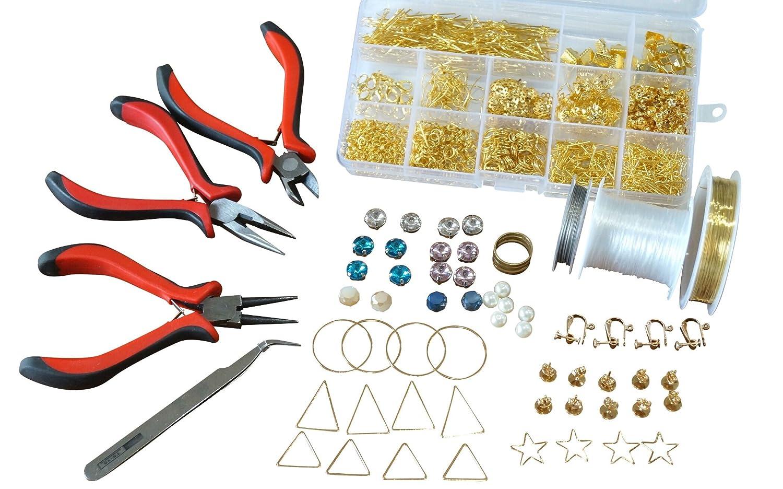 アクセサリーパーツ30種と工具4種のセット