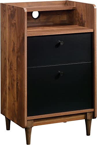 Sauder Harvey Park 2-Drawer Stand With File, Grand Walnut finish
