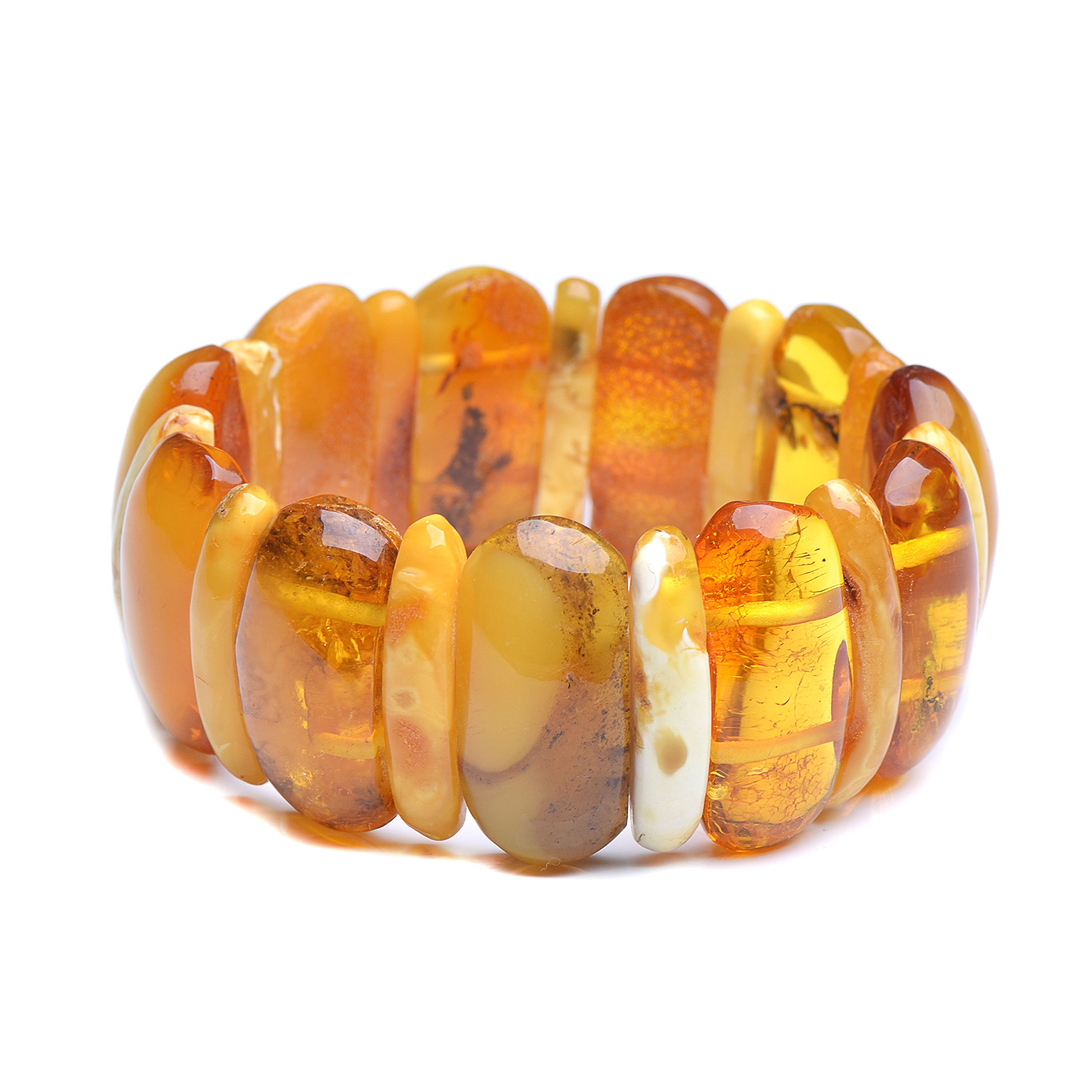 Vintage Amber Bracelet - Unique Amber Bracelet - Certified Handmade Amber Bracelet - Genuine Amber Bracelet (7.9 inches, Butterscotch) by Genuine Amber