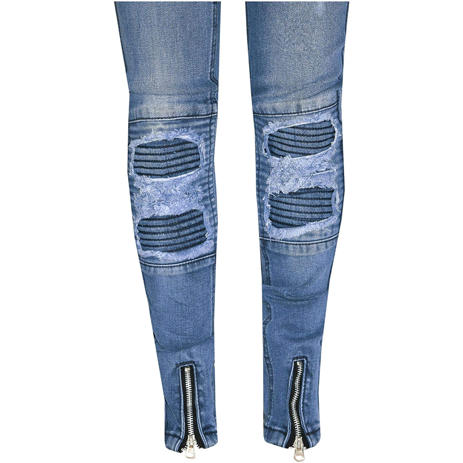 A2Z 4 Kids Kids Boys Stretchy Jeans Designers Mid Blue Ripped Denim Skinny Pants Fit Trousers New Age 5 6 7 8 9 10 11 12 13 Years