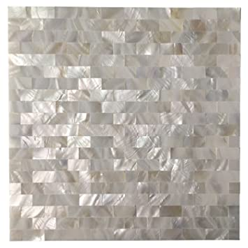 Amazoncom Art3d 6 Pack Mother Of Pearl Shell Tile For Kitchen