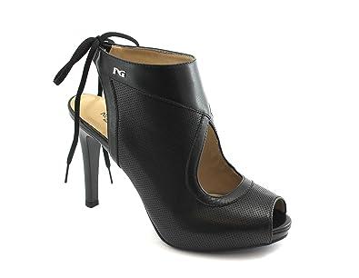 519b1b7c224c Nero Giardini Black GARDENS 05440 Schwarze Frauen Schuhe Ledersandalen  Fersengurt 36