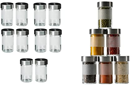 Ikea Spezie in Vetro droppar Set 10 pezzi in acciaio inox: Amazon.it ...