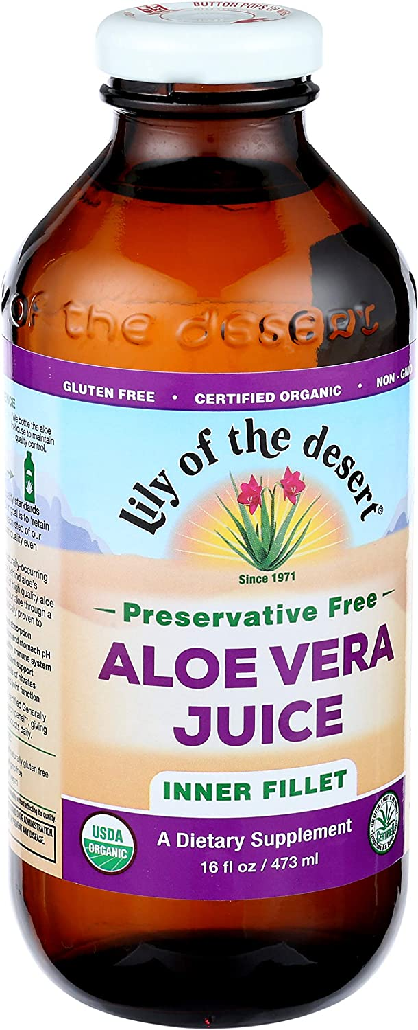 Lily of the Desert Aloe Vera Juice, Inner Fillet, No Preservatives, 16 Ounces