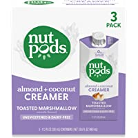 nutpods Toasted Marshmallow, (3-Pack), Unsweetened Dairy-Free Liquid Creamer, Made from Almonds and Coconuts, Whole30…