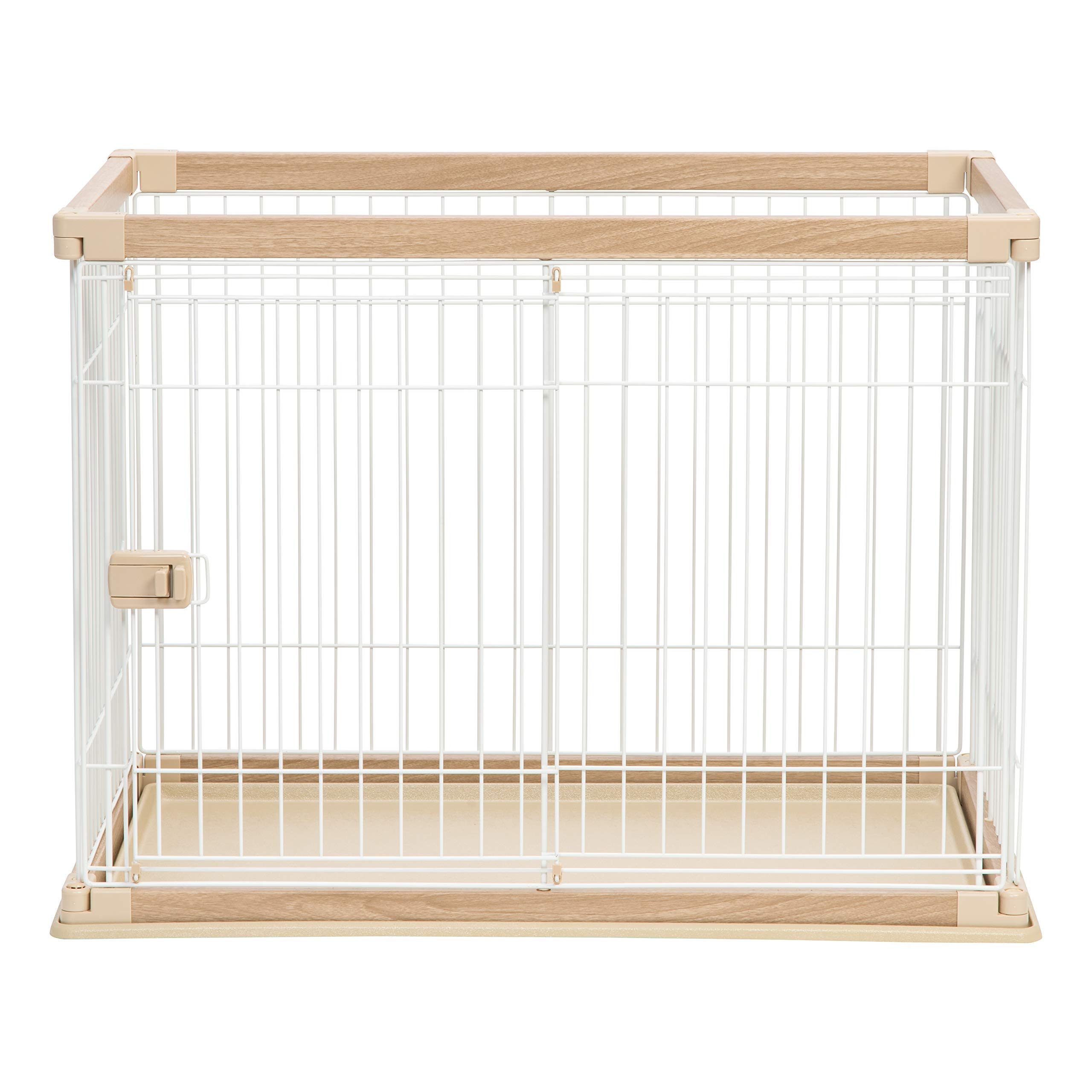 IRIS Medium Wire Open Pet Pen, Brown/White