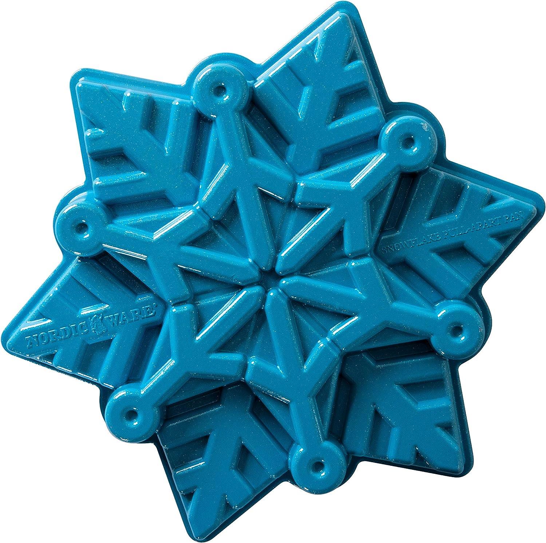 Nordic Ware Disney Frozen 2 Cast Snowflake Cake Pan, 6-Cups, Blue