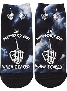 Freddy Horror Film Inspired Alternative Short Socks UK Size 4-6