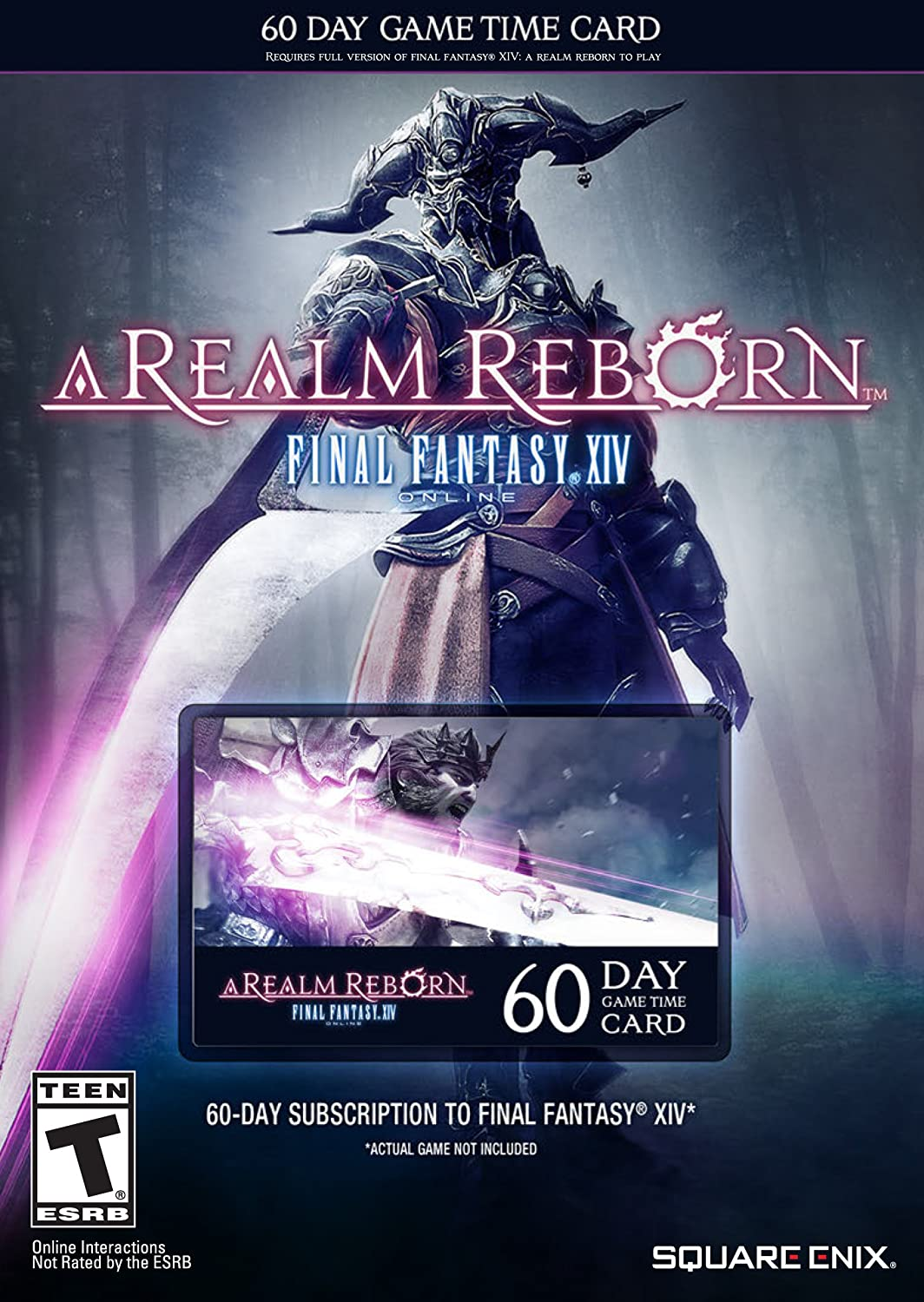 amazoncom final fantasy xiv a realm reborn 60 day time card video games - Online Time Card