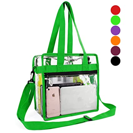 a677a112e22e Amazon.com   Clear-Crossbody-Messenger-Shoulder-Bags-Seahawks Green ...