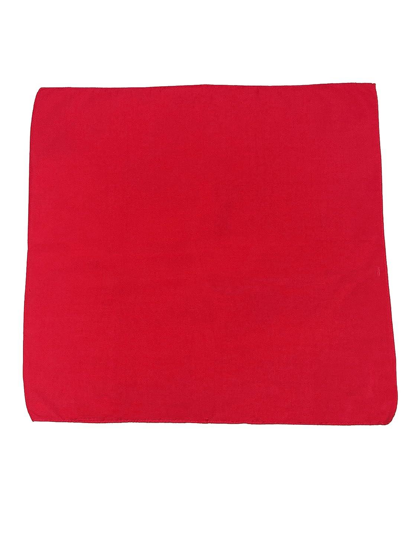 GIRRIJA 3 Pieces of RED Bandanas Cotton Paisley Bandanas Cowboys Bandanas