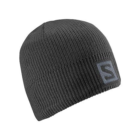 92d8add1 Salomon Unisex Logo Winter Beanie, Black, OSFA: Amazon.co.uk: Sports ...