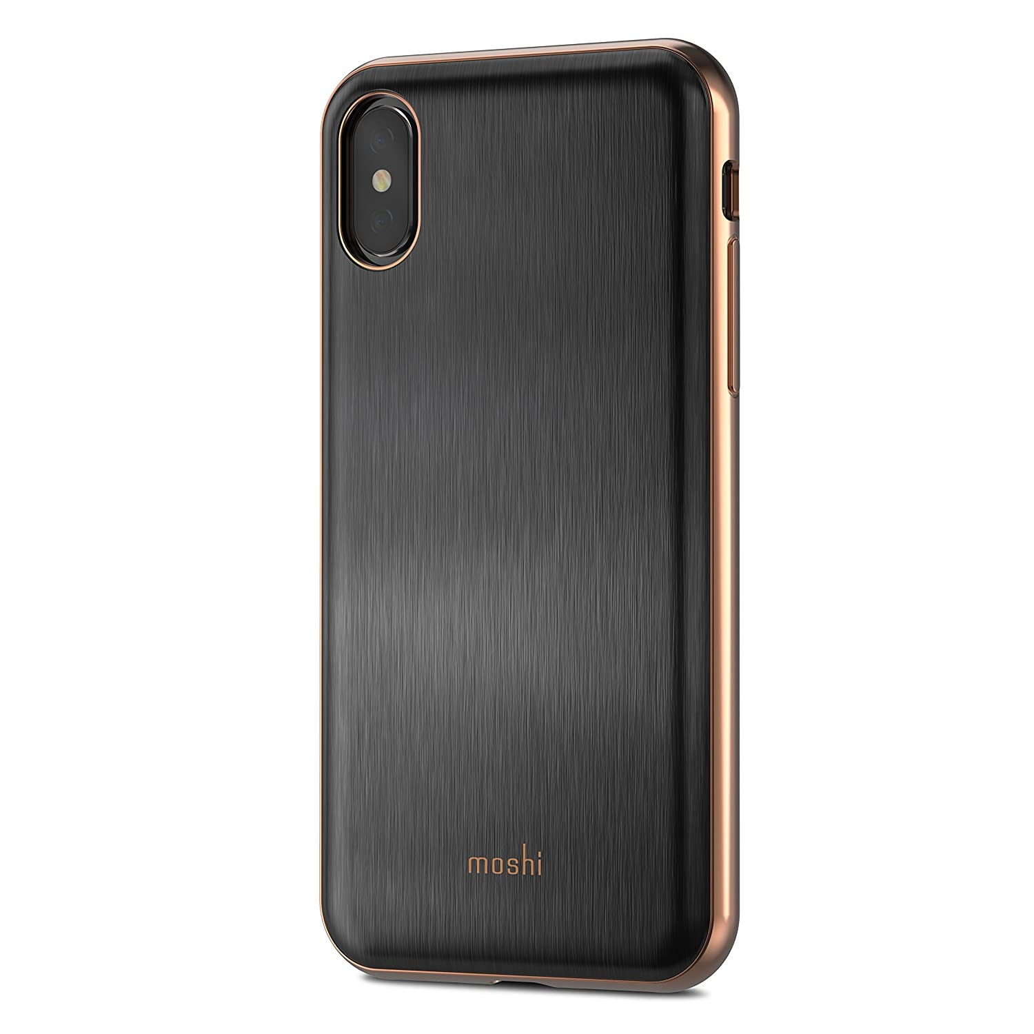 Moshi iGlaze Stylish Slim Fit Lightweight Snap-On hybrid Drop Protection for iPhone X (Black)