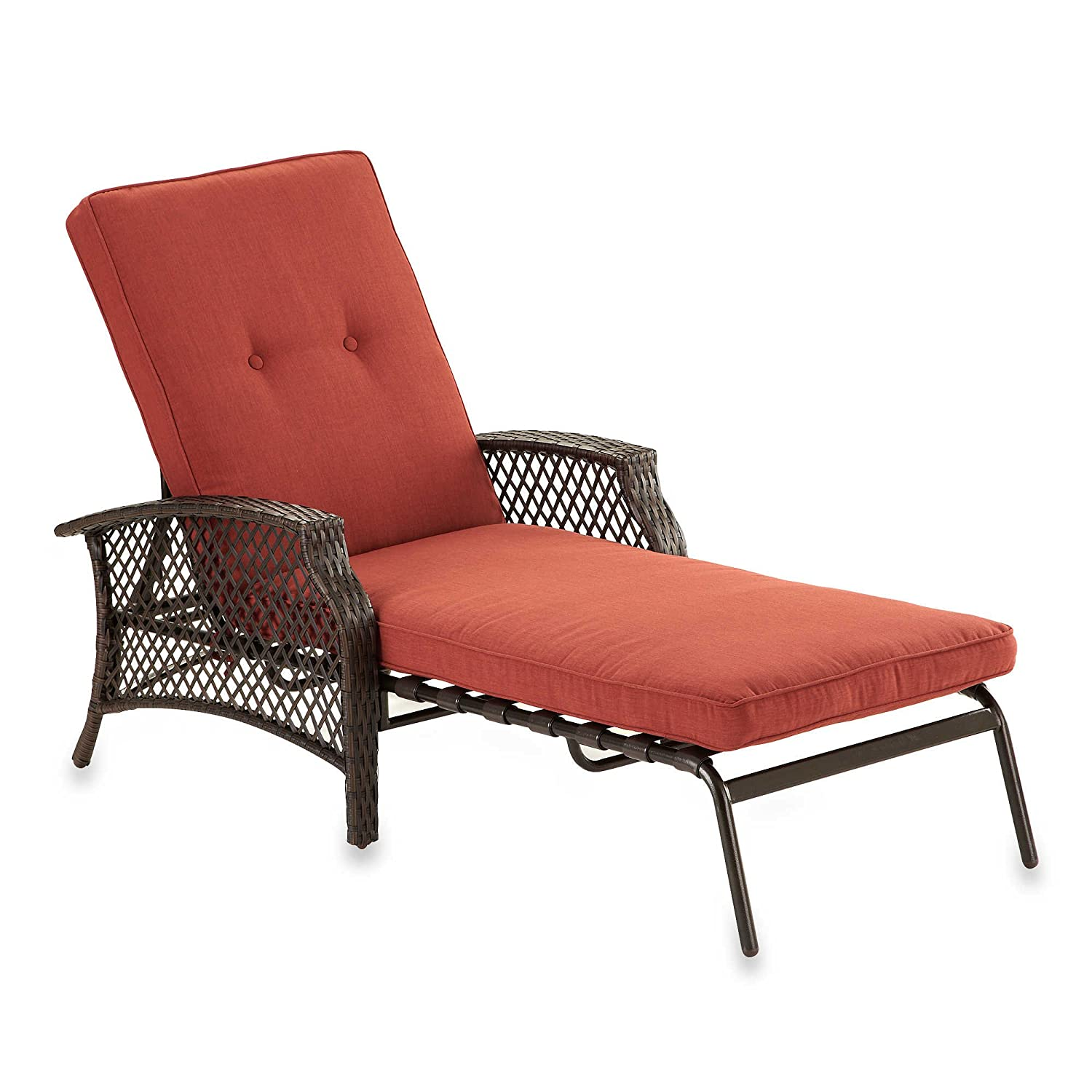Patio chaise lounge better homes and gardens outdoor patio for Alyssa outdoor chaise lounge