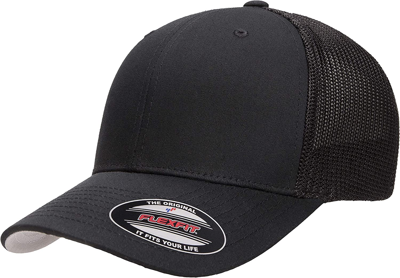 Flexfit Retro Trucker Melange Cap Mesh Cap Heather Flex Low Fit 6 Panel Hat