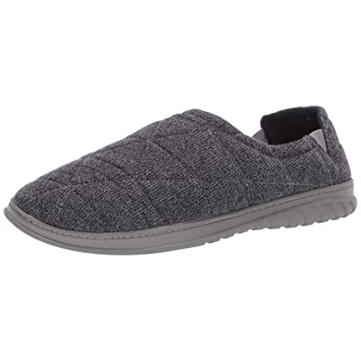 Dearfoams Men's Heathered Knit Closed Back Slipper | Shoes