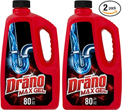 Amazon Com Drano Max Gel Drain Clog Remover And Cleaner For Shower Or Sink Drains Unclogs And Removes Hair Soap Scum Blockages 80 Oz Pack Of 2 Health Personal Care