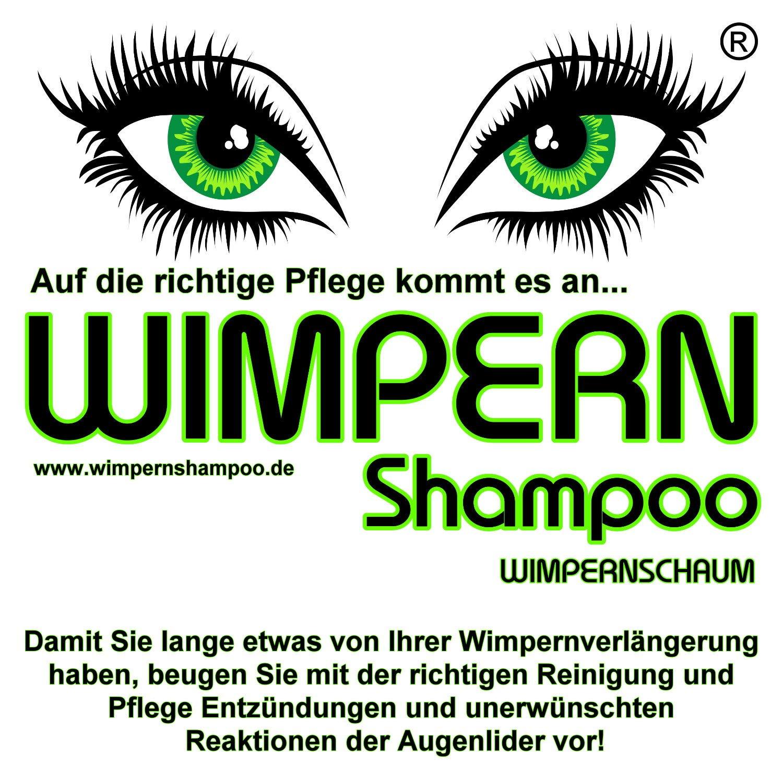 Wimpernshampoo Wimpernschaum 150ml ölfrei Vegan Geeignet Für