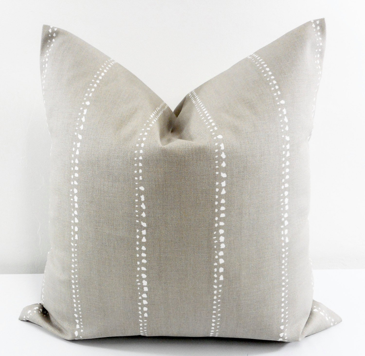 Carlo Cove Taupe Pillow cover. Sham cover. throw Pillow cover. Select size.