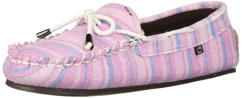 Lamo Women's Sabrina Moc II Shoe, Moccasin, Chestnut B0753JCRDR 9 B(M) US|Pink Stripe