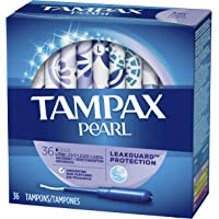 Tampax Pearl Plastic Tampons, Light Absorbency, Unscented, 36 Count (Pack of 2) (72 Total Count) (Packaging May Vary)
