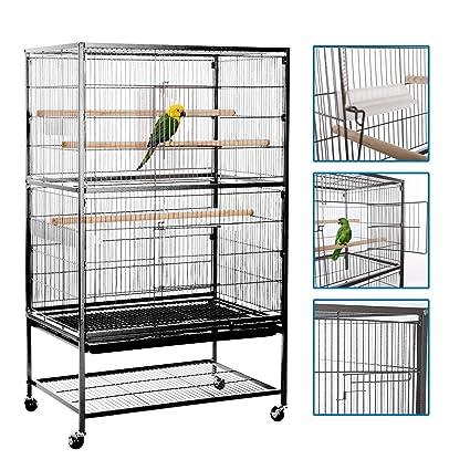 961c5e712c61 Amazon.com : VECELA Bird Cage Wrought Iron Flight Cage Parrot Cage ...
