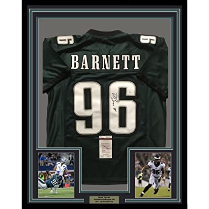 c492a109ab0 Image Unavailable. Image not available for. Color: Framed Autographed/Signed  Derek Barnett 33x42 Philadelphia Eagles Green Football Jersey ...