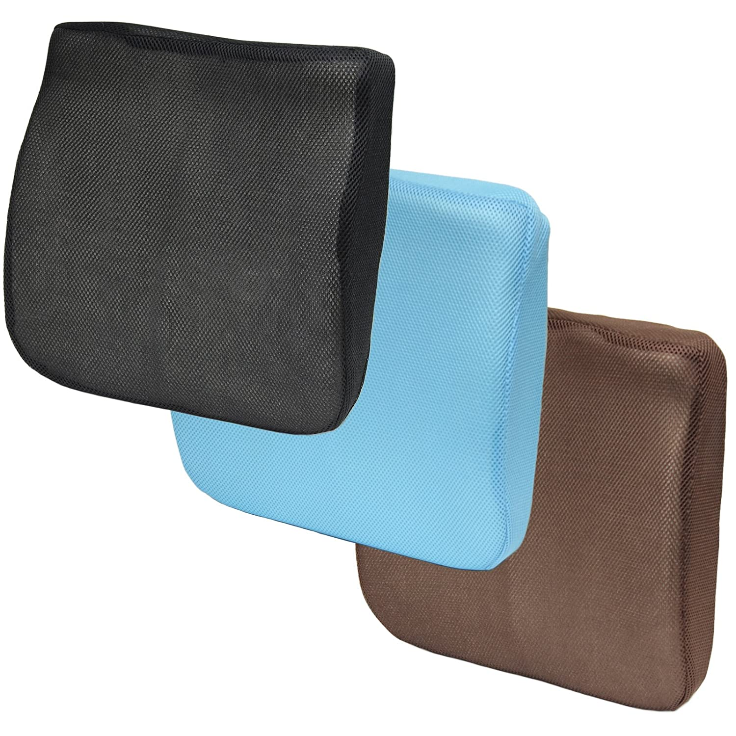 Hartleys 2 in 1 Memory Foam Seat Cushion & Lumbar Support - Black, Blue or Brown