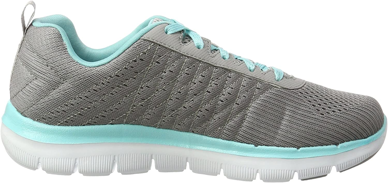 Skechers Damen Flex Appeal 2.0-Break Free Outdoor Fitnessschuhe Grau Gylb