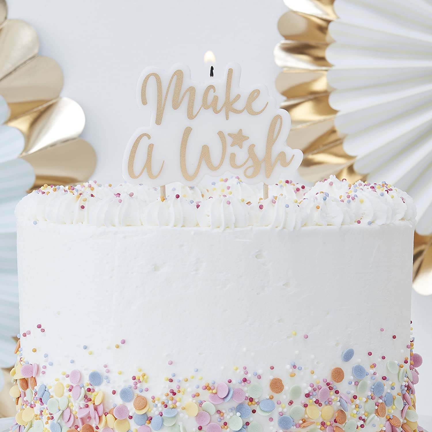 Awe Inspiring Ginger Ray Pm 401 Pick And Mix Candle Make A Wish Gold Amazon Co Funny Birthday Cards Online Alyptdamsfinfo