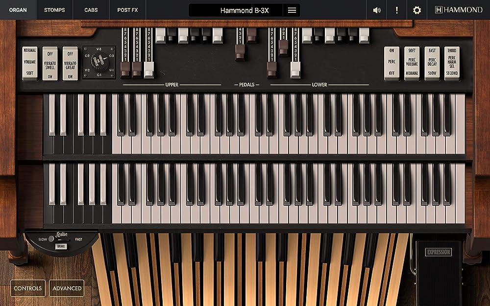 Hammond B-3X:インターフェイス
