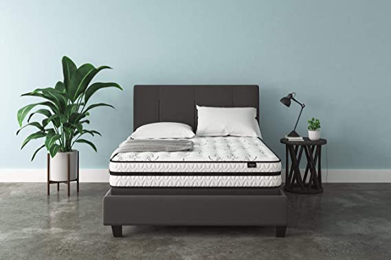 Signature Design by Ashley - 10 Inch Chime Express Hybrid Innerspring - Firm Mattress - Bed in a Box - Queen - White
