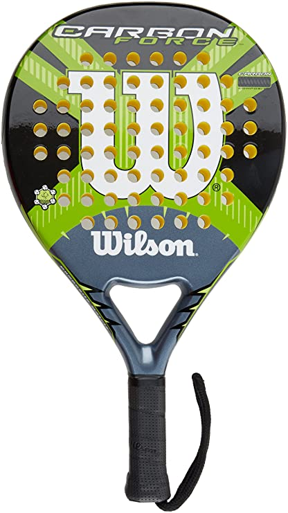 Wilson Carbon Force - Raqueta, color negro/gris/verde, talla 2