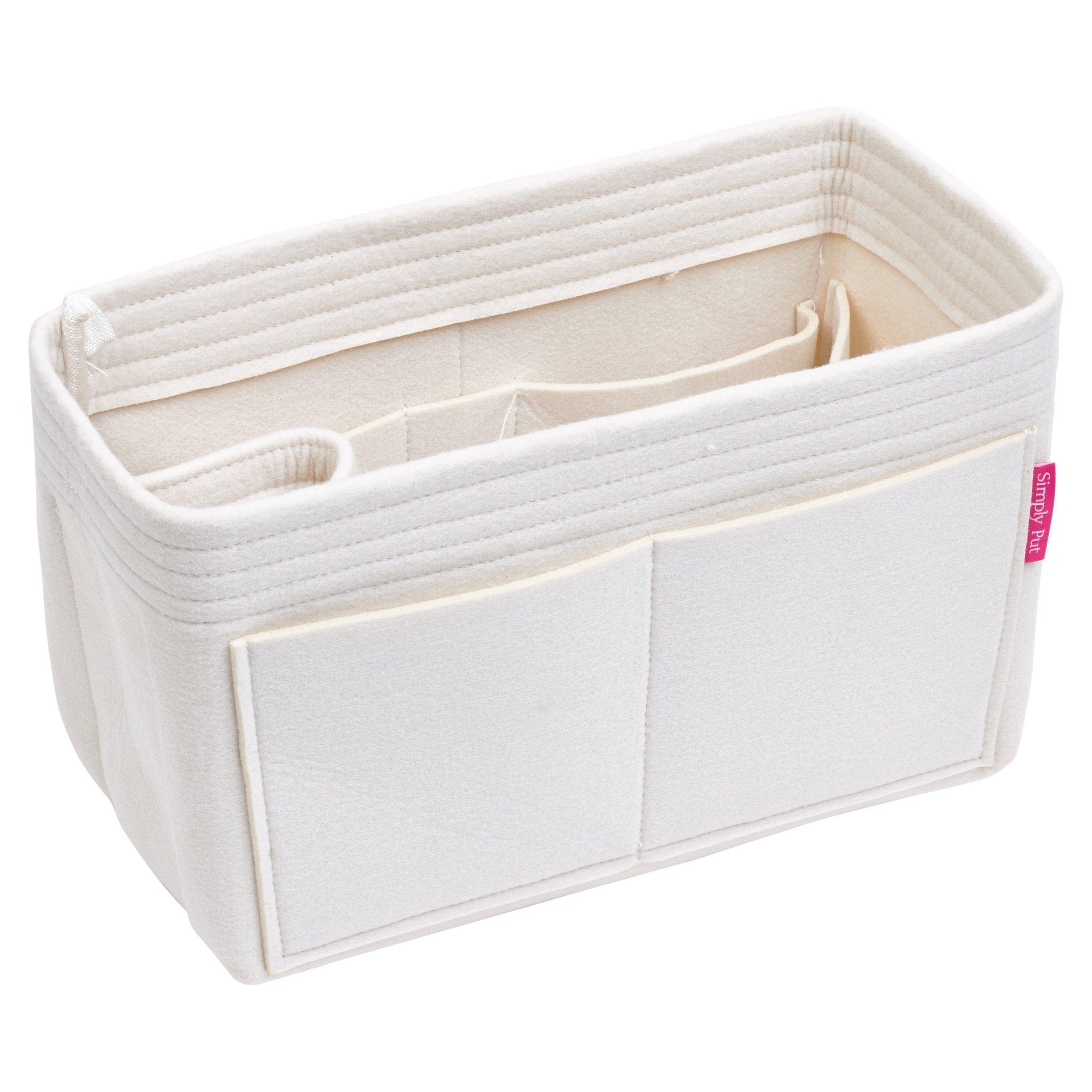 Handbag Organizer, Purse Organizer, Insert, Liner, Felt Structure Shaper X-Large, Extra Large, Light Beige