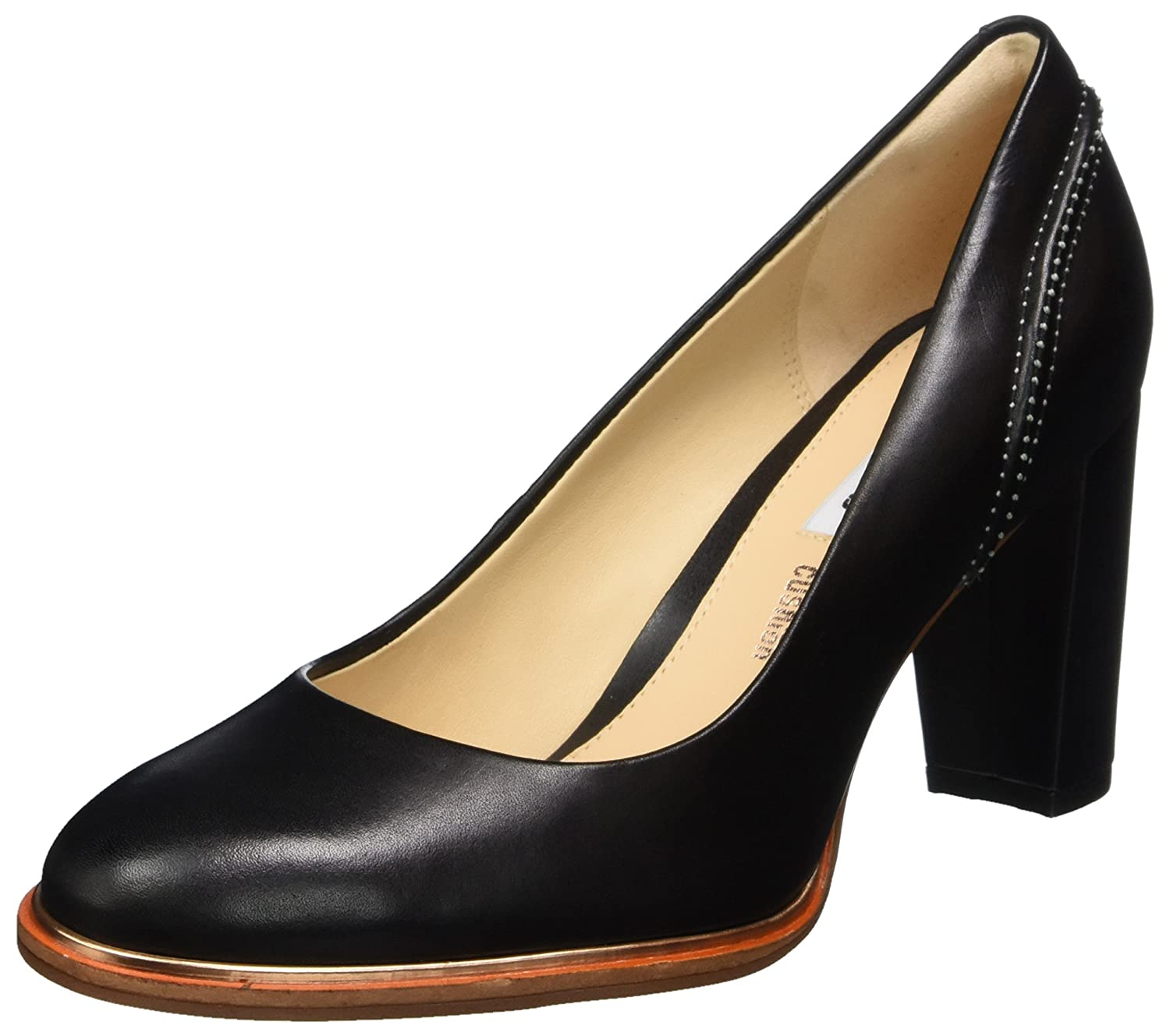 Clarks Ellis Edith, Escarpins Femme, Noir (Black Leather), 40 EU