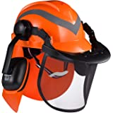 SAFEYEAR High Visibility Reflective Hard Hat with 6 Point Ratchet Suspension, Cap Style Safety Helmet, for Home Improvement,