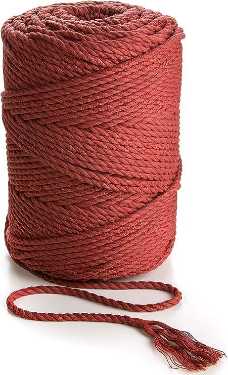 Cuerda de macramé de 4 mm, cordón de algodón suave, cuerda de macramé de 150m de grosor para perchas de plantas, arte de pared: Amazon.es: Juguetes y juegos