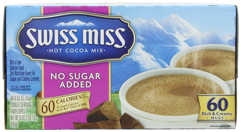 Amazon.com : Swiss Miss Hot Cocoa Mix, Milk Chocolate, No Sugar ...