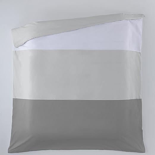 ESTELA - Funda nórdica Liso Tricolor (1 Pieza) - Colores: Blanco ...