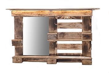 Palettenmöbel, Spiegelschrank aus Europaletten, Badezimmerspiegel ...
